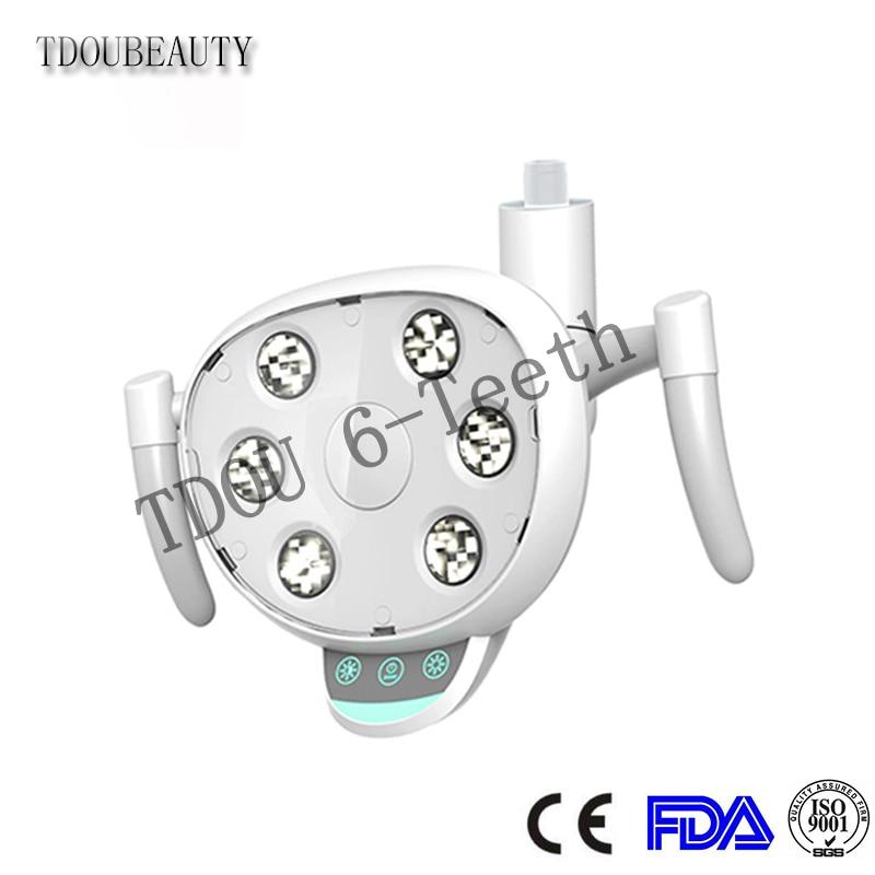 COXO CX249-23 LED lampe dentaire sans ombre avec 6 ampoule LED haute puissance bouton tactile et capteur double interrupteur de commande réglable 22 MM