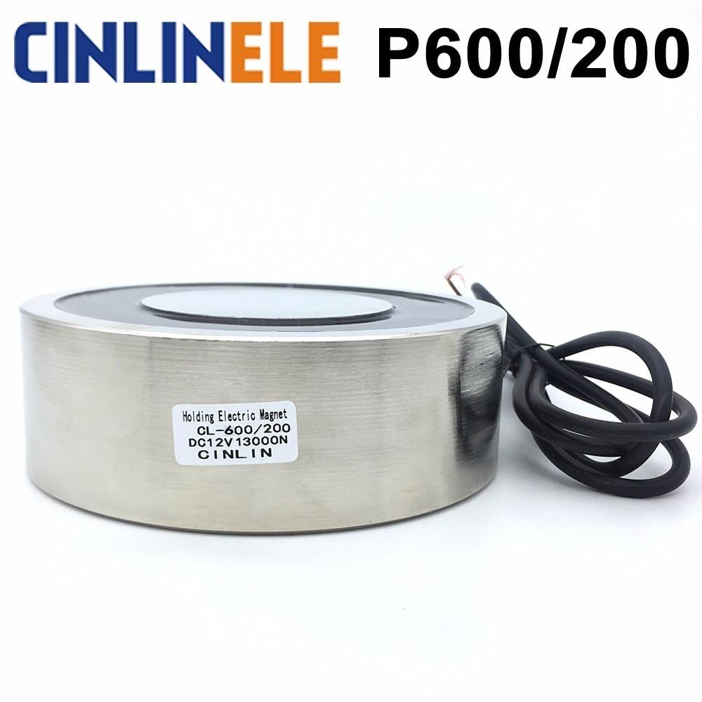 CL-P 600/200 14000KG/140000N Holding Electric Magnet Lifting  Solenoid Sucker Electromagnet DC 6V 12V 24V Non-standard custom iso 14000
