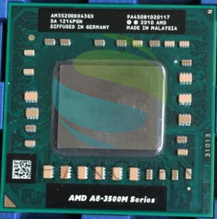 AMD Laptop CPU A8 3500M Series A8 3520M A8-3520m AM3520DDX43GX A8-Series  Socket FS1 CPU 4M Cache/1.6GHz/Quad-Core(China)