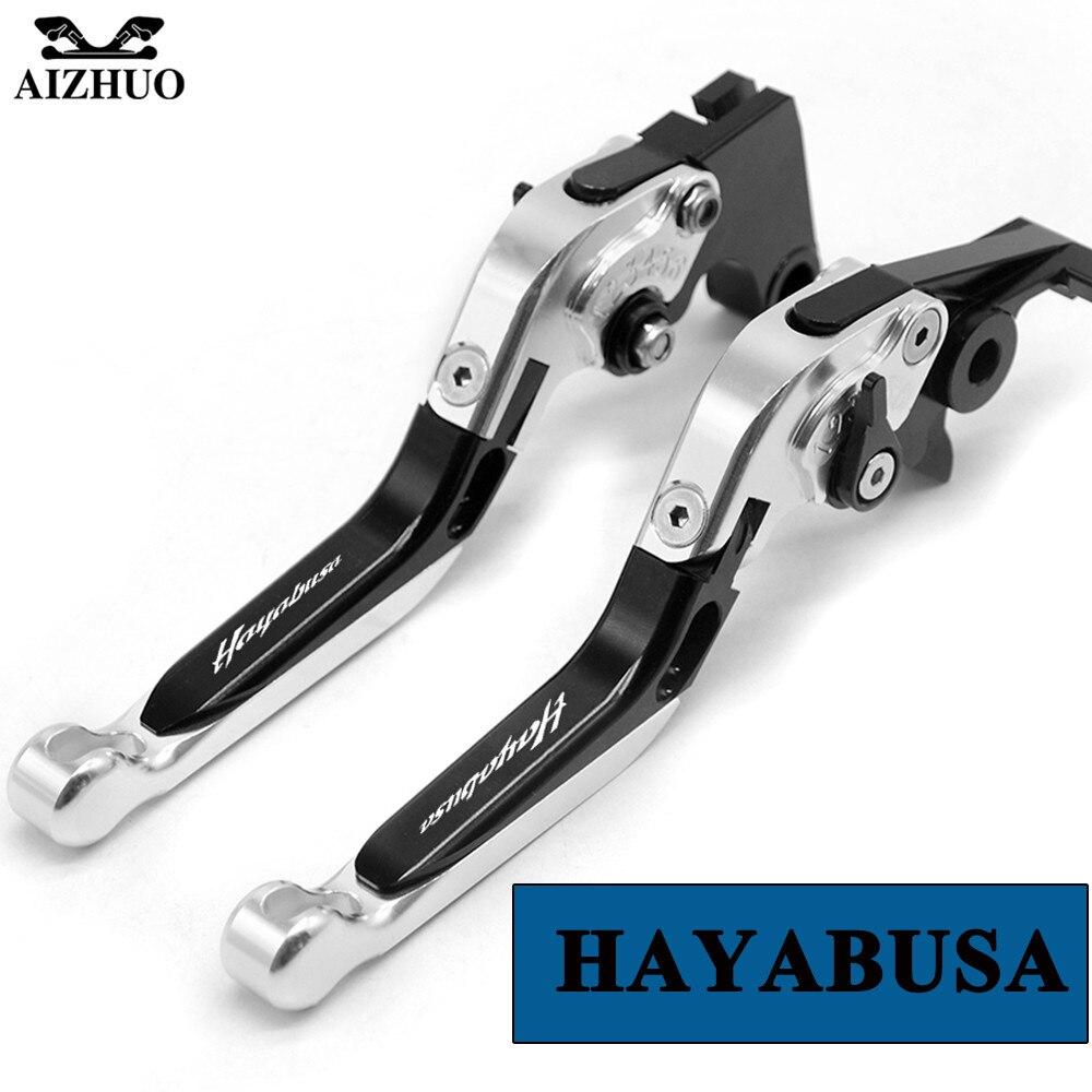 With Hayabusa LOGO Motorcycle Clutch Brake Lever CNC aluminum Adjustable For Suzuki Hayabusa (GSX-R1300 GSX1300R) 2008 2009-2016