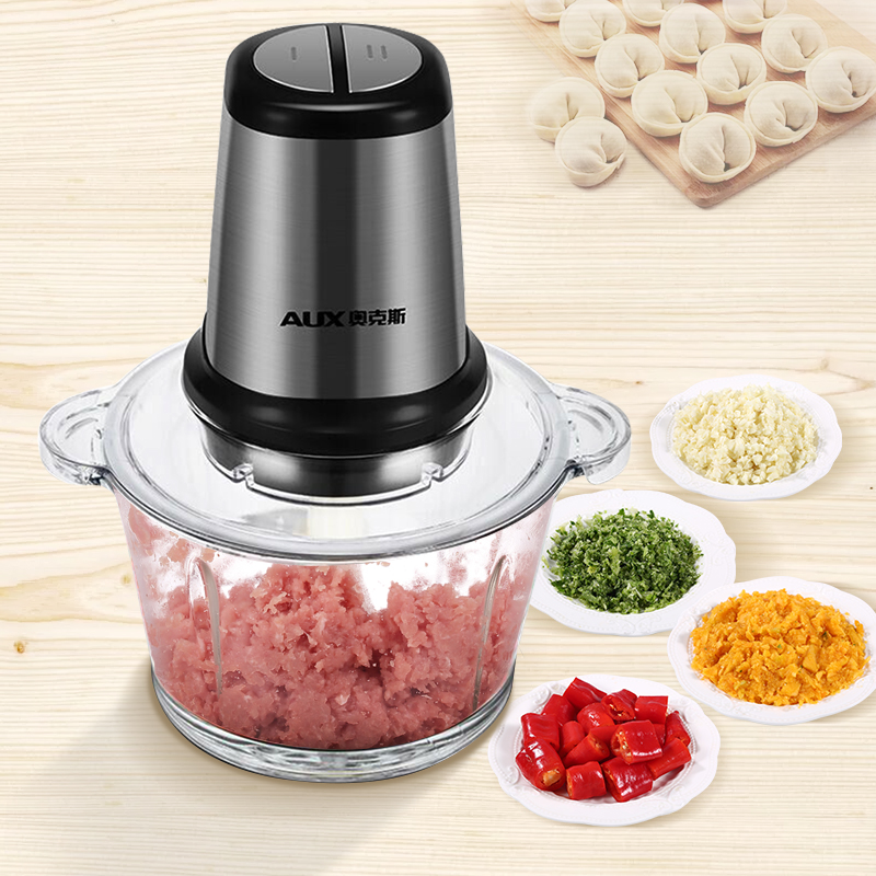 купить 300W electric Meat grinder Household Food machine Stirring Dumpling stuffing Garlic Complementary food chili Stainless steel по цене 5586.2 рублей
