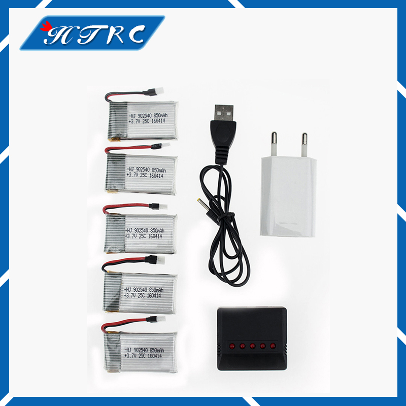 Syma X5C rc Lipo battery 3.7V 850mAh 5pcs and black charger with plug for 5sw x5sc cx30 cx30w Helicopter Quadcopter drone part rc drone lipo battery 850 mah li po battery for syma x5c x5sw with 5in1 charger box for x5 x5a x5sc x5sw mjx x705c x6sw