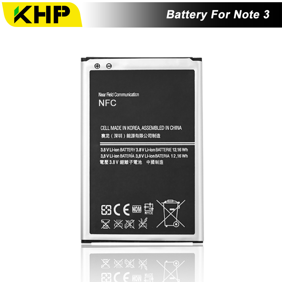 NEW 2019 100% Original KHP Phone Battery For Samsung Galaxy Note 3 N9000 N9005 N7200 Battery Replacement Mobile BatteriesNEW 2019 100% Original KHP Phone Battery For Samsung Galaxy Note 3 N9000 N9005 N7200 Battery Replacement Mobile Batteries