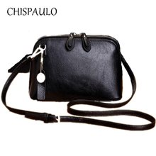 CHISPAULO Brand Designer Women Genuine Leather Handbags Fashion Women Messenger Bags Tassel CrossBody Bag Ladies Clutch bags X52(China)