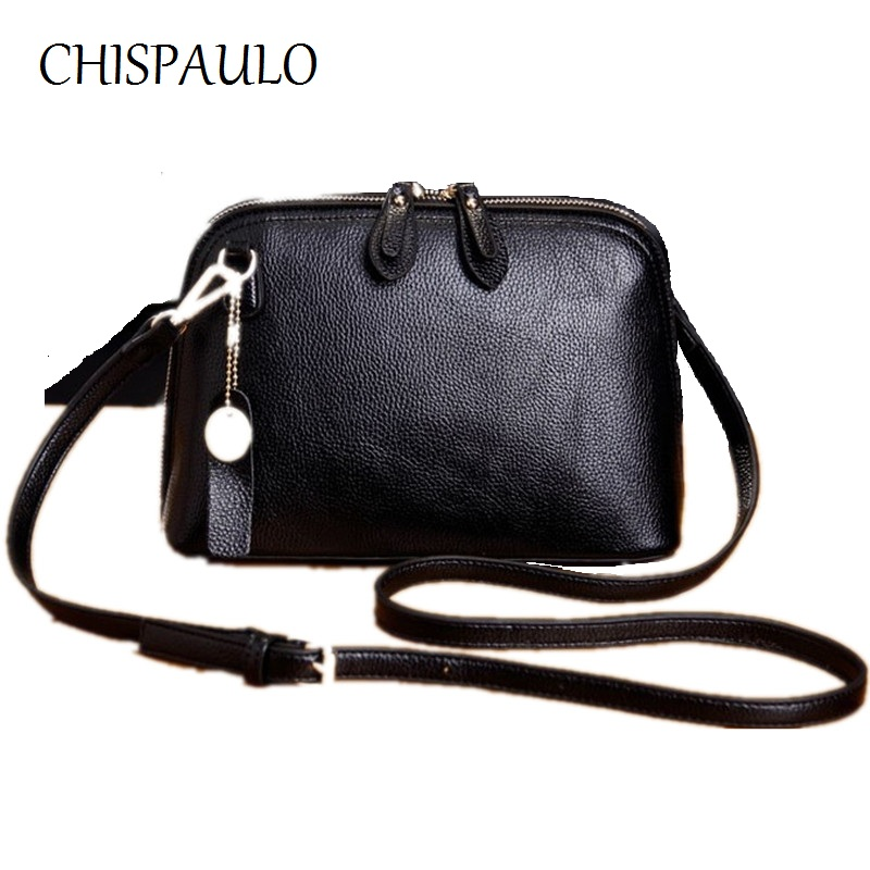 CHISPAULO Brand Designer Women Genuine Leather Handbags Fashion Women Messenger Bags Tassel CrossBody Bag Ladies Clutch bags X52