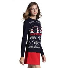 Reindeer/Snowman Knit Pullover Sweater