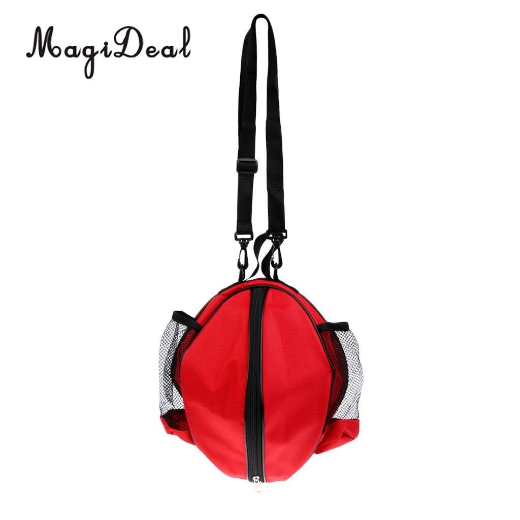 MagiDeal PVC Waterproof Backpack Basketball Carry Bag&Adjustable Shoulder Strap Volleyball Men Football Ball Bag Outdoor Sports ...