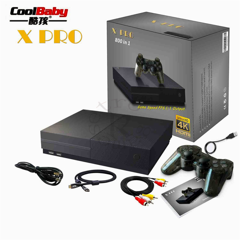 DHL 64 Bit Support 4K Hdmi Output Video Game Console Retro 800 Classic Family Video Games Retro Game Console To TV X PRO 8 classic retro game console upgraded