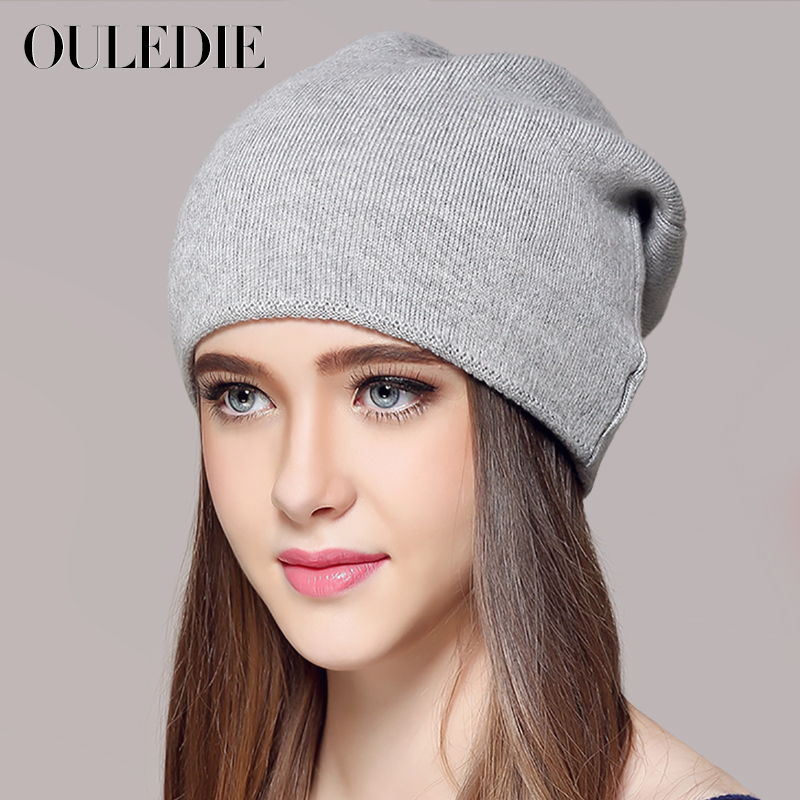 Male women s lovers knitted hat winter thermal cashmere knitted hat pocket  autumn hat cap solid wool blended beanies-in Skullies   Beanies from  Apparel ... bd31032c9aa