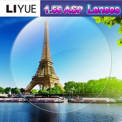 LIYUE Korea Technology anti fatigue 1.56 anti ultraviolet radiation single vision lenses for myopia / hyperopia Aspherical lens