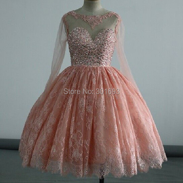 Online Get Cheap Short Puffy Prom Dresses Long Sleeve -Aliexpress ...