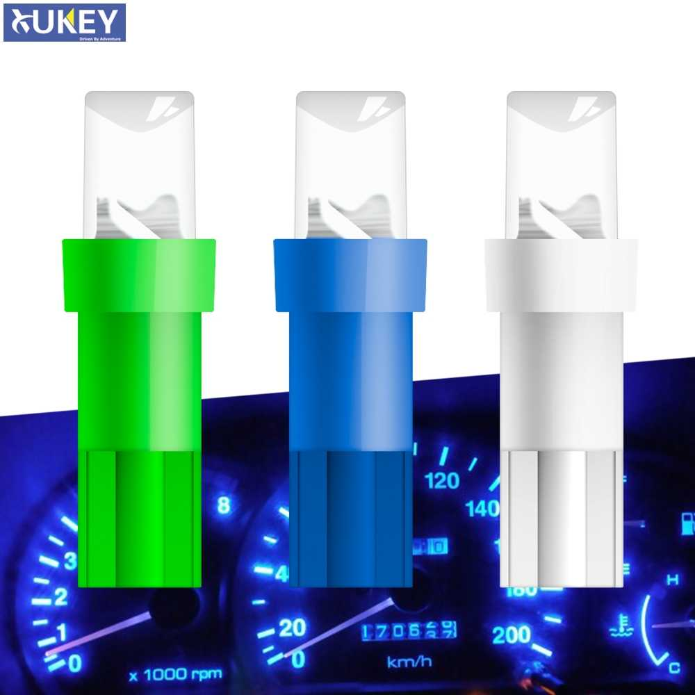 Xukey W1.2 W3W T5 LED Bulbs Car Side Wedge Speedometer Instrument Gauge Panel Lights Dashboard Lamp Concave Lens 12V 0.5W