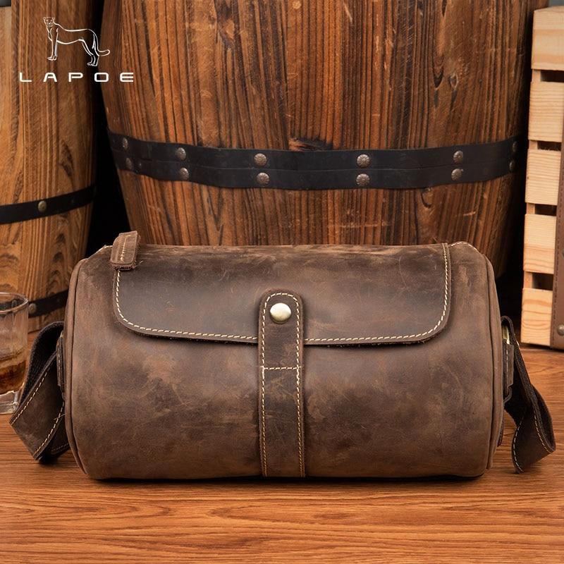 Chain Shoulder Bag For Women Or Man Small Handbag Purse With Barrel Shaped Female Vintage Crossbody Bags Mini Clutch Brown cylinder shaped mini crossbody bag
