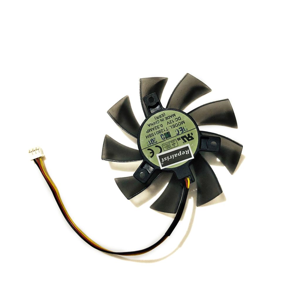 T128015SH 2pin 3PIN GPU VGA Cooler Cooling Fan For Gigabyte N240 N250 GTS240 250 GTS450 Video Cards As Replacement