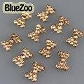 BlueZoo 10 pcs Alloy 3D Nail Art Decoração Pedrinhas Bow Tie Design de Unhas DIY Accessories10mm Maquiagem Dicas de Beleza Do Prego Do Parafuso Prisioneiro * 6mm
