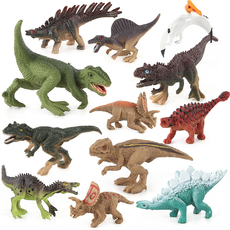 12pcs/set Mini- Simulation Dinosaur Party Supplies Plastic Model Novelty Gag Toys For Children Gift Antistress Fun