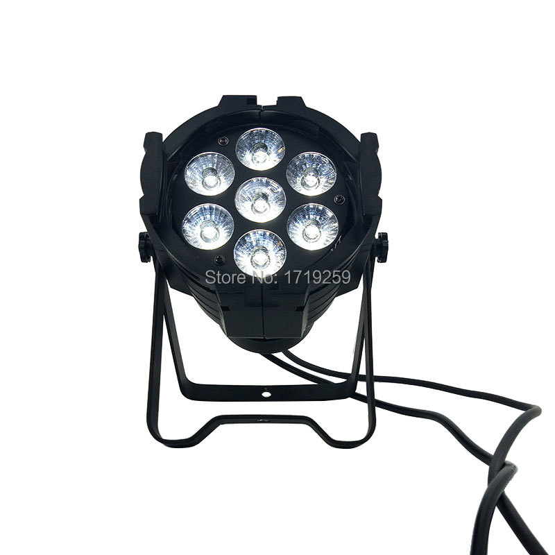 Aluminum alloy LED Par 7x12W RGBW 4in1 DMX512 Wash dj stage light disco party light Dj Lighting,SHEHDS 2pcs dj disco par led 54x3w stage light dmx strobe flat luces discoteca party lights laser rgbw luz de projector lumiere control
