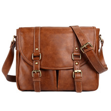 New Arrival Business Men Messenger Bags Pu Leather Crossbody Shoulder Bag For Male Casual Vintage Bag