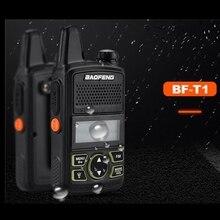 2 unids BF-T1 Baofeng walkie talkie radios UHF 400-470 mhz transceptor de radio de jamón portátil de 20 canales FM CB Radio Transmisor-Receptor Portátil