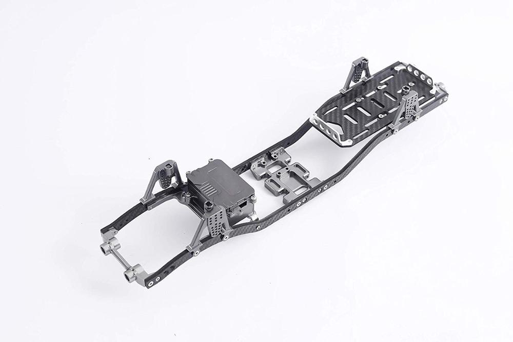 Carbon Fiber Metal Frame Frame RC Beam Car Frame Parts for 1:10 Axial SCX10 D90 Rock Crawler