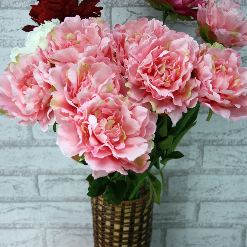 Artificial flowers peony high grade wedding decoration for Artificial flowers decoration for home