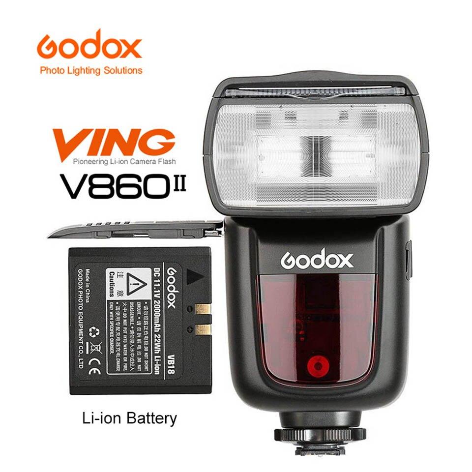 Godox V860II V860II-S TTL HSS 1/8000 Li-ion Battery Speedlite Flash Trigger for Sony DSLR A7R A7RII A58 A99 A6000 A6500 MI Shoe цена