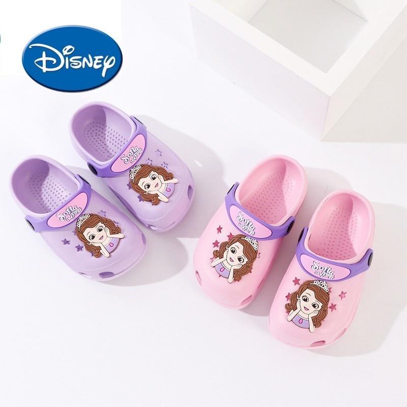 Disney Mickey Minnie Original Cartoon Kids Shoes Baby Hole Shoes Summer Beach Slippers Non Slip Children's Sandals 099