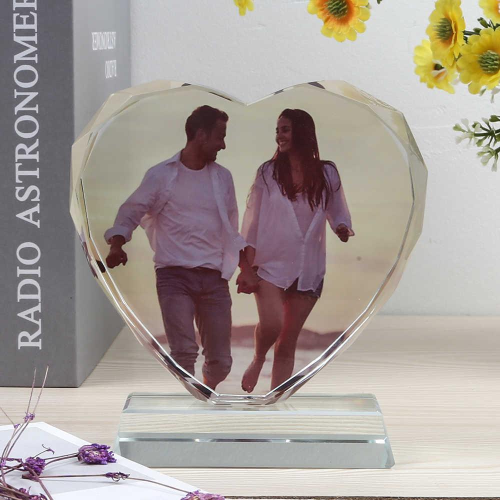 Disesuaikan Bingkai Foto Dekorasi Rumah Round Diy Pernikahan Valentines Pribadi Teman Keluarga Souvenir Ulang Tahun Hadiah Menghias