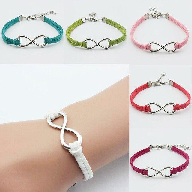 Lnrrabc Multicolor Women Number Bracelet Chain Handmade Bracelets Bangles Lucky 8 Friendship Fashion Jewelry Gift