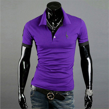 TJWLKJ Men Clothes 2019 Top Tees Men Polo Shirt 5xl Fawn Pattern Short Sleeve Polo Shirt 13Color Cotton Slim Polos Para Hombre 1