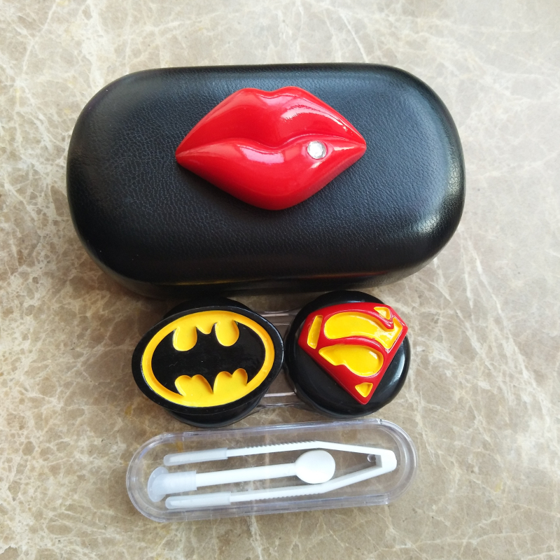 Apparel Accessories Capable Liusventina 2018 Hot Sale Resin Cute Batman Superman Potato Combo Contact Lens Case Bag Container For Color Lenses Gift For Girl In Pain