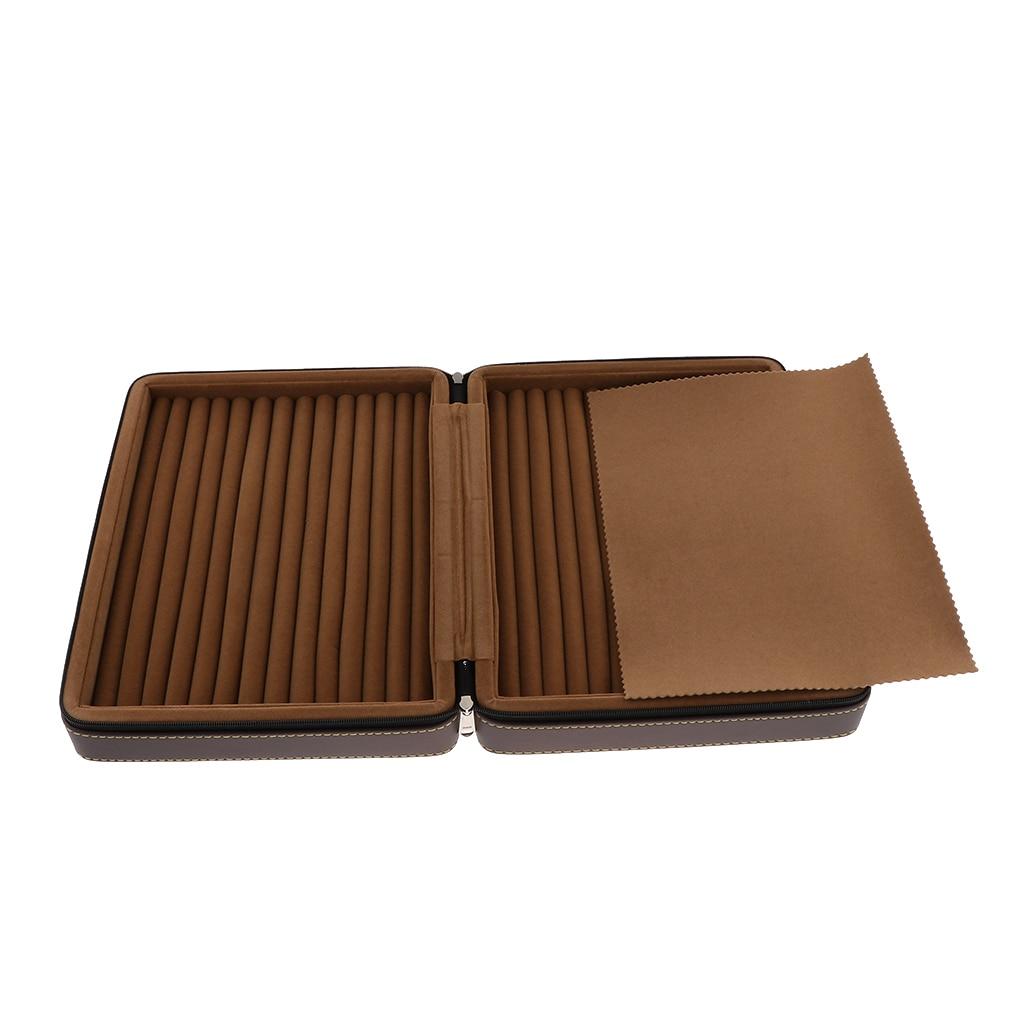 Luxe PU Leer Sieraden Stand Travel Organizer Box Studs Ringen Opslag Houder met Rits-in Sieraden Verpakkingen & Displays van Sieraden & accessoires op  Groep 1