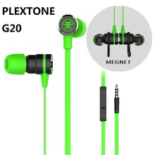 Cheapest PLEXTONE G20 In ear Earphones Stereo Earbuds Gaming Headsets Noise Canceling With Mic With retail box PK Razer Hammerhead Pro V2