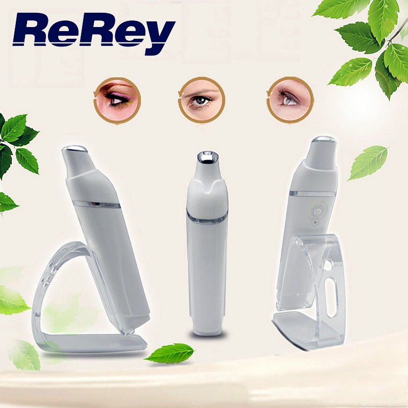 USB Charge Automic Electric Eye Care Massager Ion in Blue Eye Wrinkle Removal Stick Vibration Beauty Pen Infrared Hot Treatment
