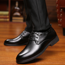 Mens Dress Shoes Lace Up Italian PU Leather Fashion Luxury Brand Men Business Office Classic