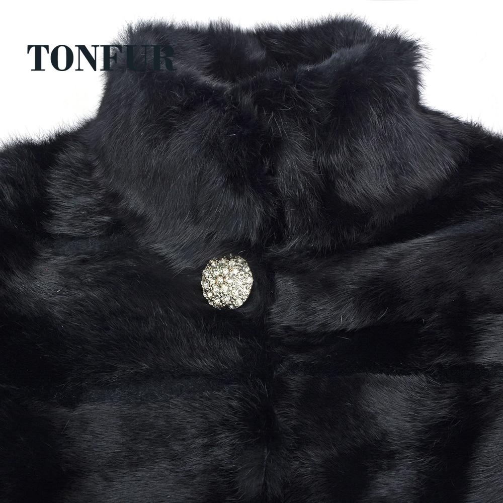 Avec Plus Hiver Véritable Sr261 Gilet Veste Et Cisaillé Taille La 5xl Manteau Fourrure Femmes Marque Diamant Lapin De n6TgPqX