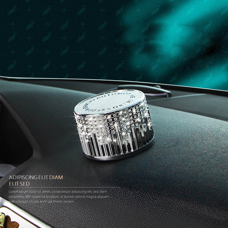 Car Ornaments Luxury Crystal Diamond Automobiles Seat Air Freshener Perfume Fragrance Dashboard Interior Decoration Accessories car outlet perfume air freshener with thermometer lime