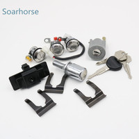 For Mitsubishi Pajero montero MK2 4G54 4G64 4M40 6G72 Car Ignition/Glove box/Spare tire/Door Lock Cylinder with Key Full Set