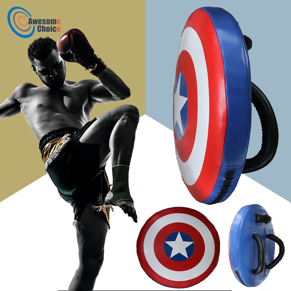 Foot Target Sports Boxing Pad Bag Fight Punching Bag Durable Boxing Captain America Training Shield Muay Thai Kicking Pouch