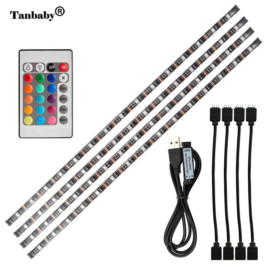 Tanbaby 2m Tv Led Light Strip Rgb Dc5v Usb Lamp Smd 5050