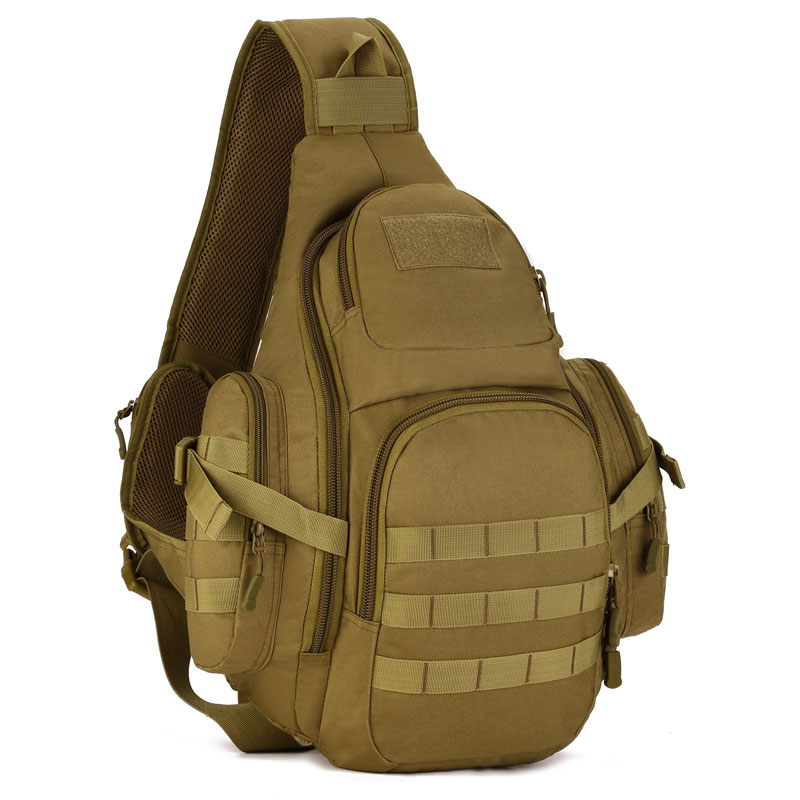 Molle Tactical Outdoor Camouflage Chest Pack Sport Single Shoulder Man Crossbody Army Surplus Gear Equipment  2017