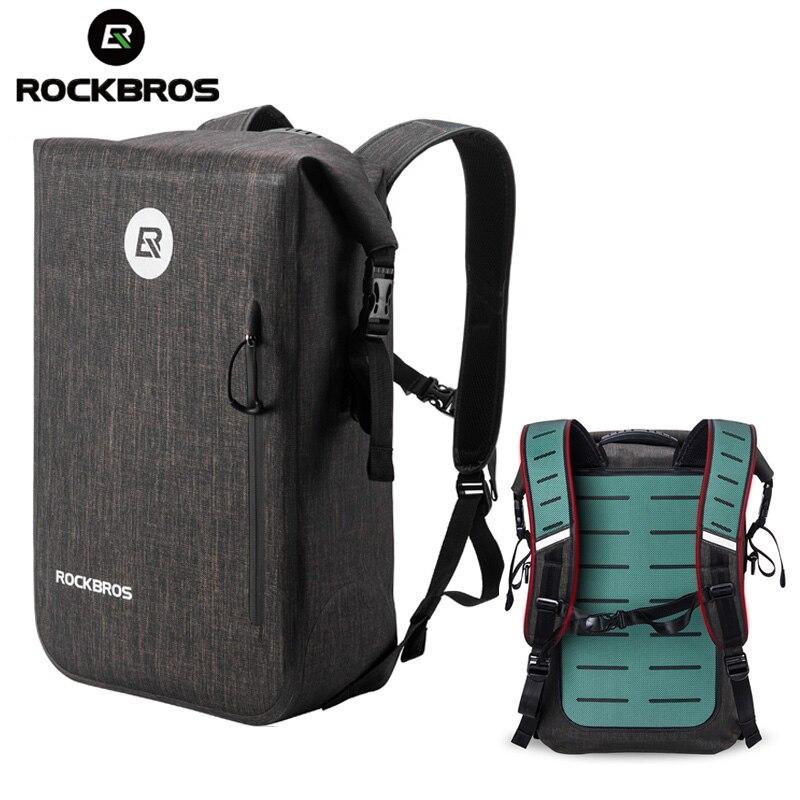 ROCKBROS 24L Водонепроницаемый велосипеда велосипедная сумка, Велоспорт велосипед рюкзак Повседневное школьные ранцы для отдыха на открытом во... - 2