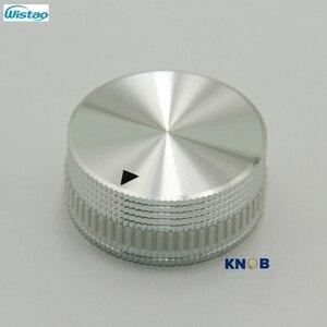 Image 2 - IWISTAO Katı Potansiyometre Topuzu Tüm Alüminyum HIFI Karıştırma Anahtarı Ses Çapı 40mm Yüksek 18mm Gümüş DIY Ücretsiz kargo