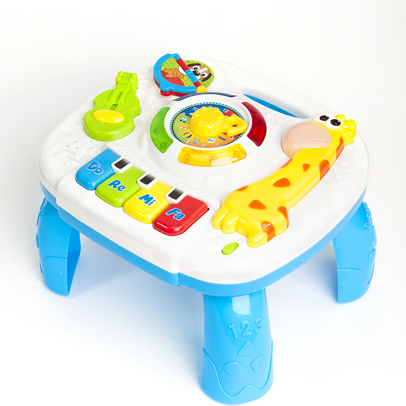 Musical Toys Baby 13-24 Months Educational Game Play Center Toy Music Activity Table Oyuncak Brinquedos Para Bebe baby toys educational 13 24 months musical toys for baby toddlers infants activity play table brinquedos para bebe oyuncak
