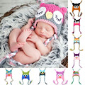 Winter Baby Bomber Hat with Ear Flaps/Rabbit Shaped Knit Wool Scarf LD789