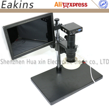 Cheapest prices 1080p HDMI/VGA Microscope Camera Built-in measurement software+180X/300X C-Mount lens+10.1″ IPS Monitor+56 LED Ring Light+Stand
