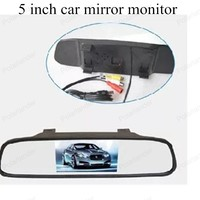 TFT digital 800x480 5 inch LCD car monitor small display for vehicle assistance reversing parking backup rear view camera