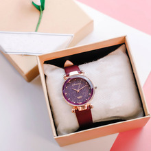 цены Women Girl Retro Quartz Wrist Watch PU Leather Strap Colored Thin Dial Watches GDD99