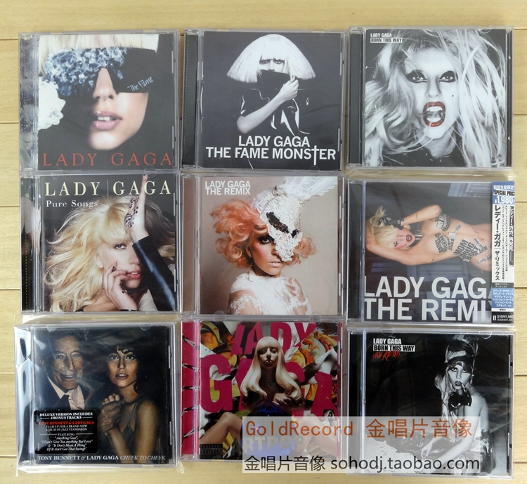 Lady Gaga collection album 10CD Full Box Photo Collection