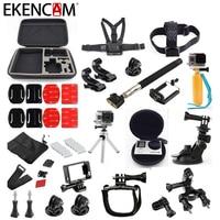 EKENCAM Accessories Head Strap Chest Strap Wrist Strap Tripod Mount Big Storage Bag 20 In 1